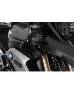 Přídavné LED světlomety, sada pravé mlhové/levé dálkové, černé, pro BMW R1200GS od roku 2013