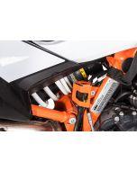 Rear brake fluid reservoir guard, orange for KTM 890 Adventure/ 890 Adventure R/ 790 Adventure / Adventure R/ 1290 Super Adventure (2021-)