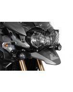 Kryt světlometu z nerezové oceli, černý s rychloupínáním pro Triumph Tiger 800/800XC a Tiger Explorer