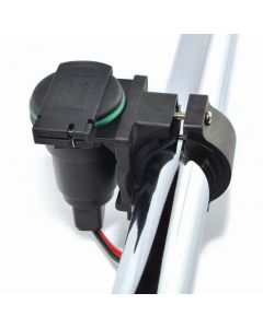 Auxiliaries socket with handlebar mounting, 22-28 mm