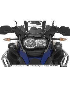 Přídavné LED světlomety, sada pravé mlhové/levé dálkové, černé, pro BMW R1200GS Adventure od roku 2014