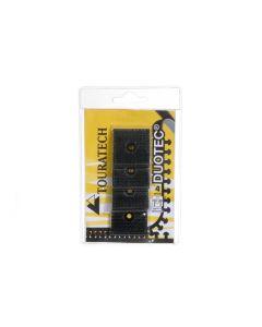 Duotec ® Extra silné upínací čtverečky suchých zipů, 4 kusy, 32 mm x 32 mm, k přišroubování