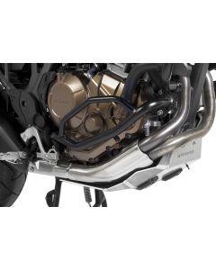 Ochranný rám motoru, černá nerez ocel, Honda CRF1000L Africa Twin