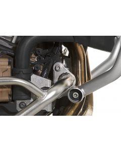 Držák pro montáž ochranných rámů motoru společně s OEM padacím rámem (horním) Honda pro CRF1000L