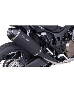 Remus Okami nerezový, černý pro Honda CRF1000L Africa Twin 2017, slip-on s ABE